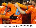 barcelona   8  feb  valencia cf ...   Shutterstock . vector #259893350