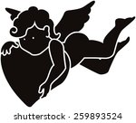 silhouette of an angel | Shutterstock . vector #259893524