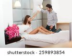 couple playing and having a... | Shutterstock . vector #259893854
