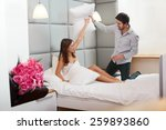 couple playing and having a... | Shutterstock . vector #259893860