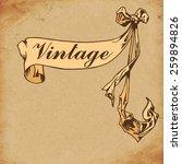 vintage background  invitation... | Shutterstock .eps vector #259894826
