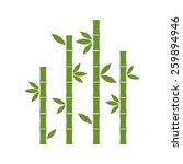 green bamboo stems   Shutterstock .eps vector #259894946