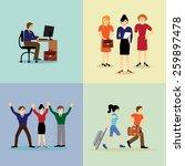 global business team. vector...   Shutterstock .eps vector #259897478
