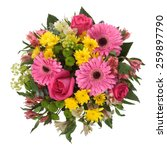 floral arrangement with roses ... | Shutterstock . vector #259897790