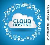 cloud computing design over...   Shutterstock .eps vector #259912799