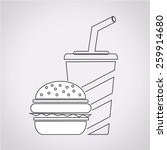 fast food drink icon  | Shutterstock .eps vector #259914680