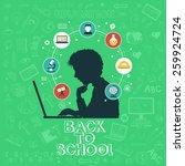 back to school   doodle set ... | Shutterstock .eps vector #259924724