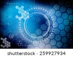 digital abstract business... | Shutterstock . vector #259927934