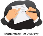 hands of businessman are... | Shutterstock .eps vector #259930199