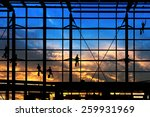 washers wash the windows of... | Shutterstock . vector #259931969