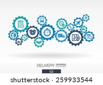 delivery mechanism concept.... | Shutterstock .eps vector #259933544