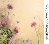 Gentle Color Floral Background...