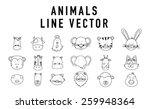 Farm Animals Outline Vector