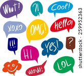 colorful questions speech...   Shutterstock .eps vector #259952363