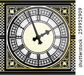 big ben clock detailed   vector ... | Shutterstock .eps vector #259952909