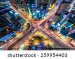 looking down on a major... | Shutterstock . vector #259954403