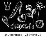 cinderella chalk   Shutterstock .eps vector #259954529