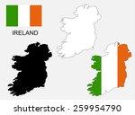 ireland map and flag vector ... | Shutterstock .eps vector #259954790