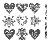 winter love seamless black... | Shutterstock .eps vector #259962380