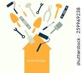 house remodel vector banner   Shutterstock .eps vector #259969238