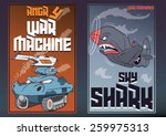 angry war machines with human...   Shutterstock .eps vector #259975313