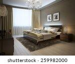 bedroom interior in modern... | Shutterstock . vector #259982000