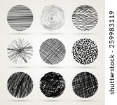hand drawn scribble circles... | Shutterstock .eps vector #259983119