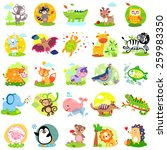vector illustration of cute... | Shutterstock .eps vector #259983350