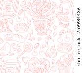 seamless tea pattern | Shutterstock . vector #259984436