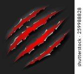 monster claw | Shutterstock .eps vector #259988828
