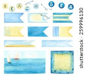 Watercolor Collection Of Labels ...