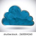 cloud computing design over... | Shutterstock .eps vector #260004260