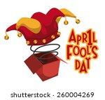 april fools day design  vector... | Shutterstock .eps vector #260004269