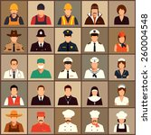 vector icon workers  profession ... | Shutterstock .eps vector #260004548