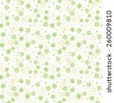 little cute watercolor flowers... | Shutterstock .eps vector #260009810