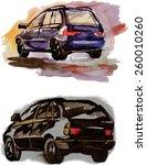 vector big cars | Shutterstock .eps vector #260010260