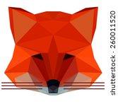 abstract polygonal geometric... | Shutterstock .eps vector #260011520