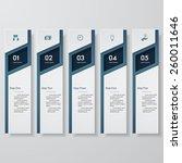 design clean number banners... | Shutterstock .eps vector #260011646