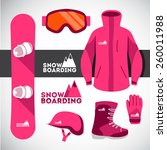 sports background with... | Shutterstock . vector #260011988