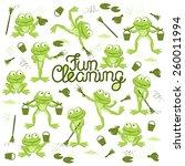fun frogs. vector. | Shutterstock .eps vector #260011994