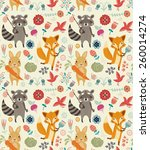 cute seamless pattern with... | Shutterstock .eps vector #260014274
