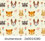 cute seamless pattern with... | Shutterstock .eps vector #260014280
