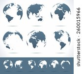 globes set   illustration... | Shutterstock .eps vector #260015966