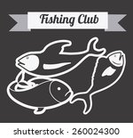 fishing club design  vector... | Shutterstock .eps vector #260024300