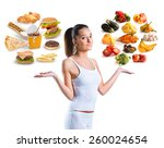 unhealthy vs healthy food | Shutterstock . vector #260024654