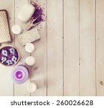 composition of spa treatment on ... | Shutterstock . vector #260026628