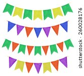 watercolor garlands with flags. ... | Shutterstock .eps vector #260028176