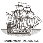 ship vector logo design... | Shutterstock .eps vector #260032466
