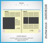 magazine layout vector  | Shutterstock .eps vector #260038268