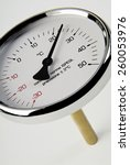 Industrial Thermometer On White ...